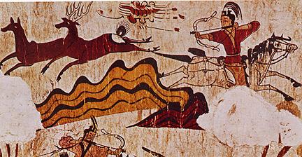 Goguryeo tomb mural from Korea (Public Domain)