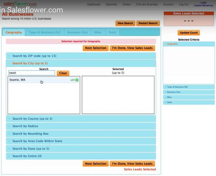 SalesFlower is a stripped down version of Infofree focused on B2B prospecting.