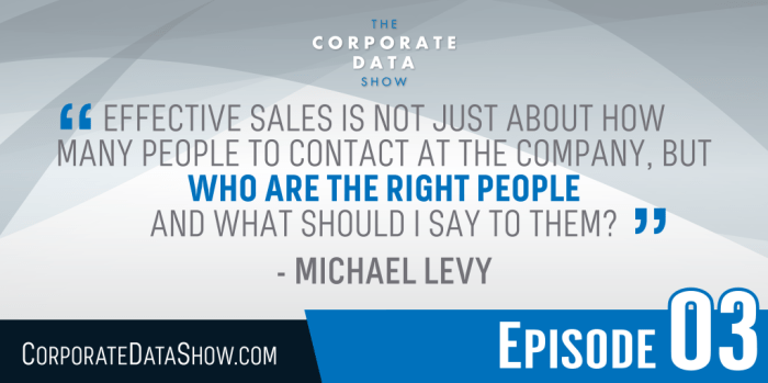 """Effective sales is not just about how many people to contact at the company, but who are the right people and what should I say to them."""