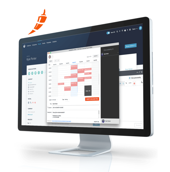 """""""Chili Piper helps your team book more meeting and impress your prospects. Schedule meetings directly within the SalesLoft platform, use meeting templates, and automatically record your meetings in Salesforce."""""""