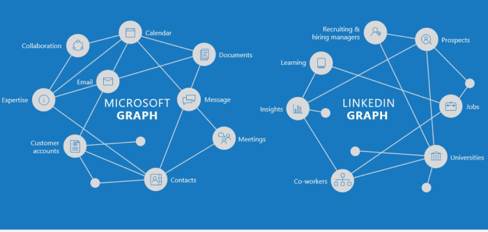 The LinkedIn and Microsoft Graphs complement each other and will help build LinkedIn's vision of an Economic Graph.