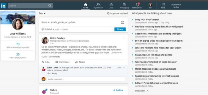 StoryLines are trending topics shown on the right side of the LinkedIn Desktop