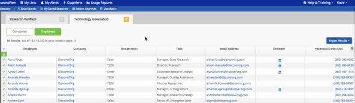DiscoverOrg now offers two classes of segregated companies and contacts.
