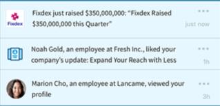 LinkedIn Sales Navigator added three new alerts