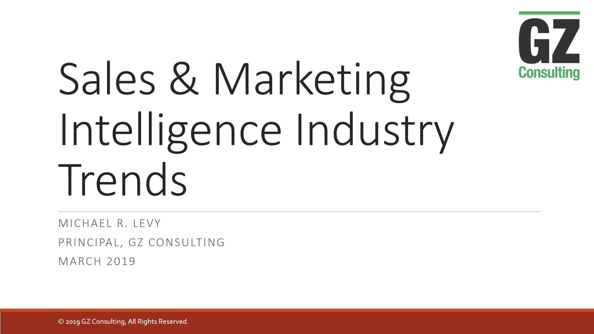 Sales & Marketing Intelligence Trends