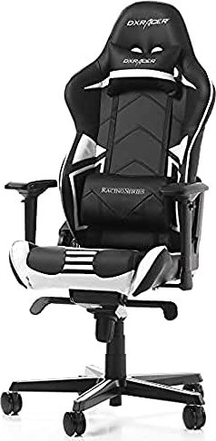 pro gaming chairs uk ball dxracer racing series chair black white r131 nw via amazon partnerprogramm
