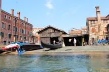 Gondola factory in Venice