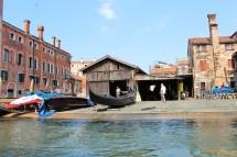 Gondola factory in Venice