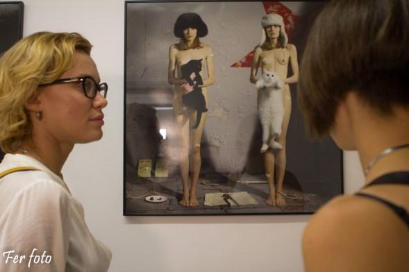 Oksana Chucha y Max Sauco, artista principal de mi exposición - Photo: Fernando Martí