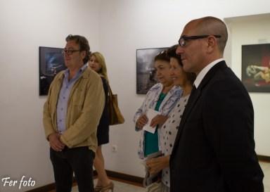 Joan Gregori ( Dtor. del MuVIM de Valencia) - Valentina Grygorenko ( Tia de Max Sauco), artista principal de mi exposición - Photo: Fernando Martí