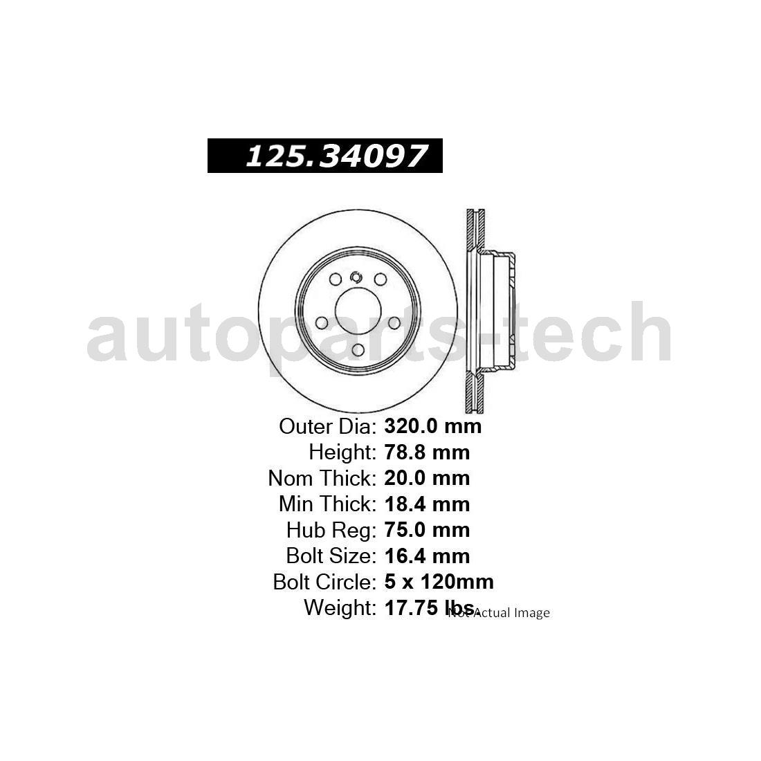 4x Centric Parts Front Rear Disc Brake Rotor For Bmw X6