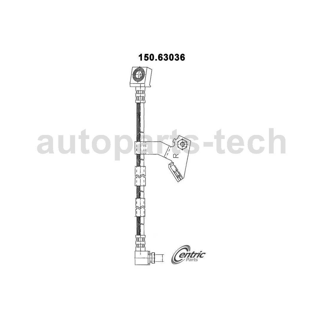 4x Centric Parts Rear Front Brake Hydraulic Hose For
