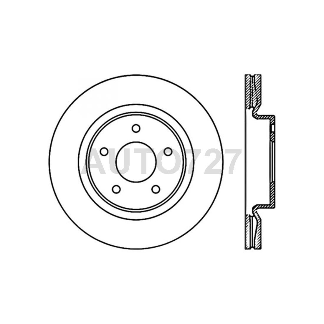 Centric Parts Front 2PCS Disc Brake Rotor For Nissan