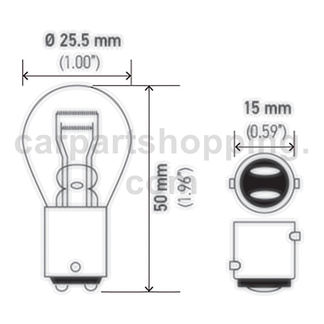 1 Hella Tail Light Bulb For Asuna Gt