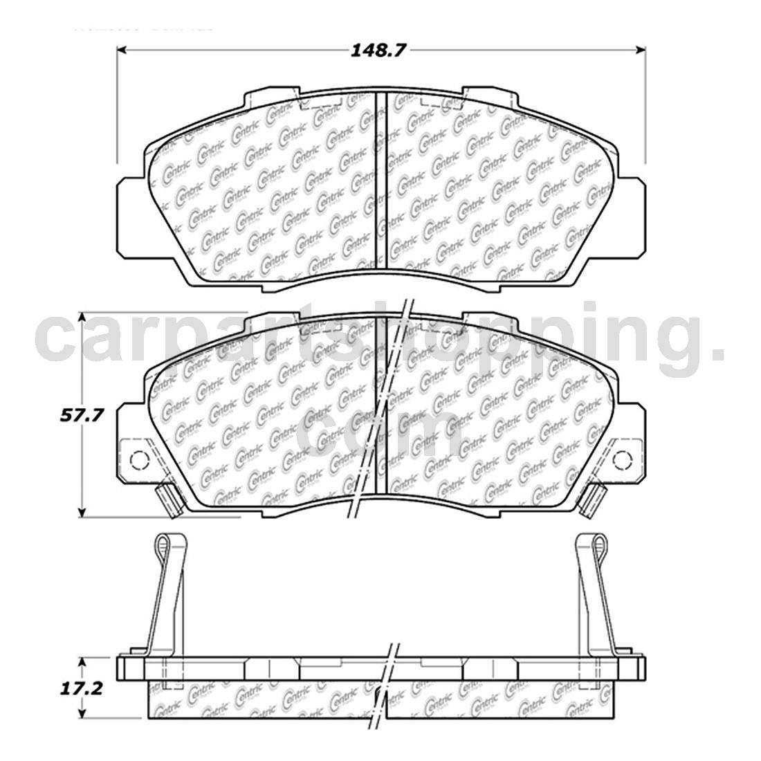 2 Posi Quiet Disc Brake Pad Set Front Rear For Acura 1997