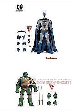 Batman And Tmnt Figures : batman, figures, Collectibles, Action, Figures, Batman, Leonardo, 2-Pack, Exclusive, GZtoystore.com