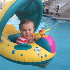 Baby Blow Up Ring Chair High Back Go Anywhere Inflatable Sunshade Kids Toddler Float Seat Boat