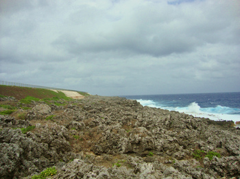 石灰岩の海岸