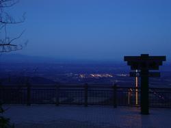日勝峠の夜景