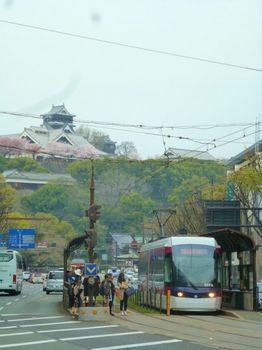 熊本城と熊本市電
