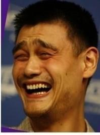 姚明笑臉怎么來的?常看到有用他的笑臉做漫畫很搞想知道怎么來的?_百度知道