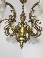Kronleuchter Decken Lampe 6 fl. Messing Frankreich   eBay