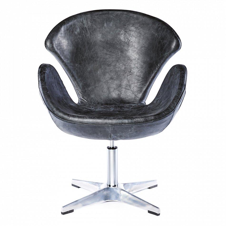 Echtleder Sessel Vintage Ledersessel Schwarz Design