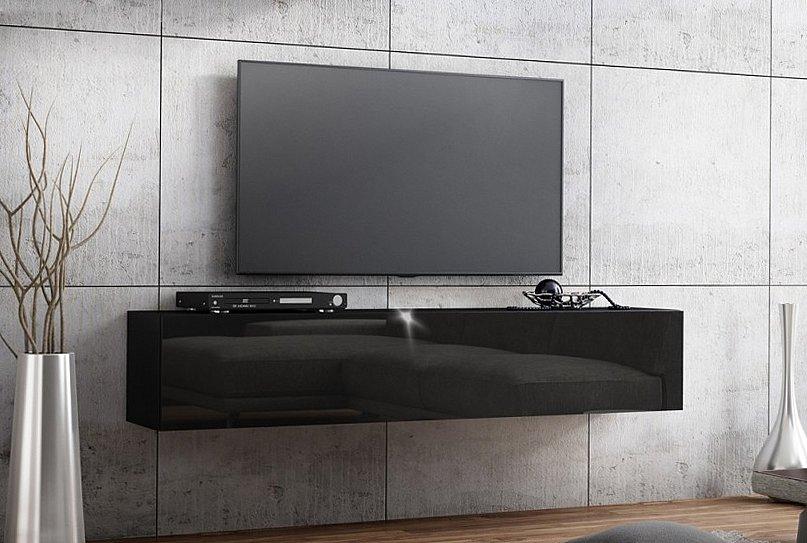 details zu tv lowboard 140 cm 160 hangeboard acryl hochglanz 18mm mdf schrank weiss schwarz