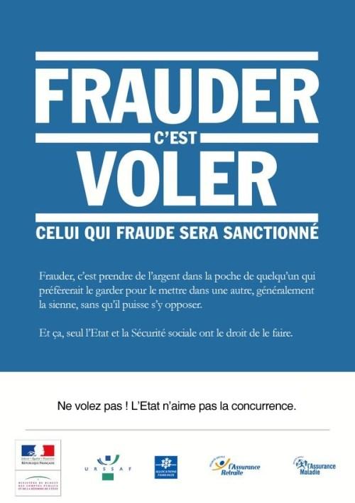 Frauder - ne volez pas, l'état n'aime pas la concurrence