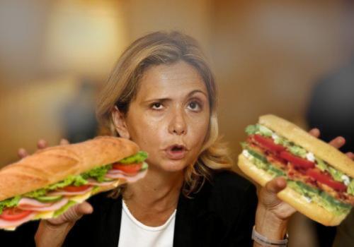 Pécresse aime un ou deux sandwiches de temps en temps