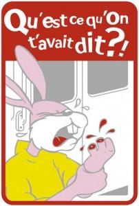Lapin RATP : qu'est-ce qu'on t'avait dit ?!