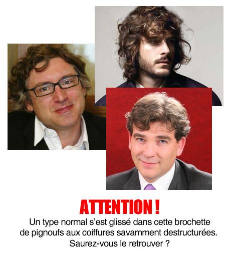 Onfray, Montebourg, coiffures destructurées