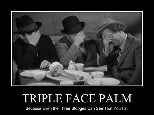 triple facepalm
