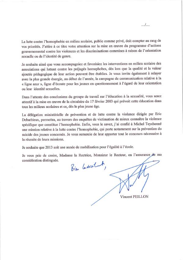 Lettre de Peillon aux Recteurs (p2)