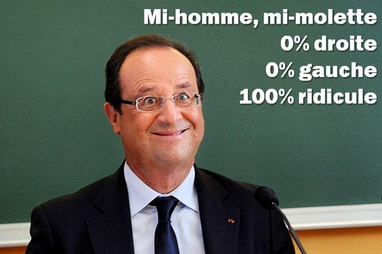 hollande 100 pct ridicule