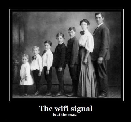 wifi at the max - demotivator