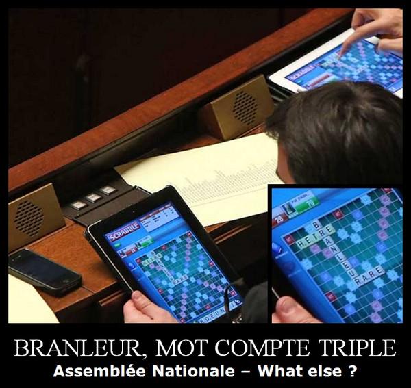 député - branleur mot compte triple