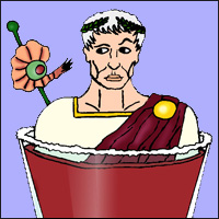 A Caesar! Good luck getting the tomatoe juice stains out in the wash!