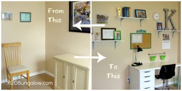 Organize a tween room before and after
