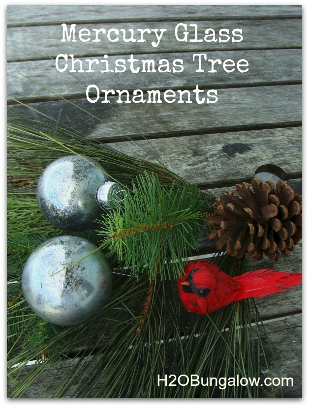 DIY Mercury Glass Christmas Tree Ornaments