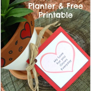 My love for you grows every day Valentines palnter with free template download