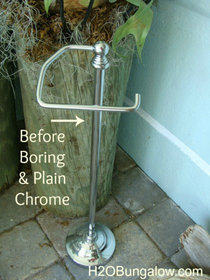chrome toliet paper holder