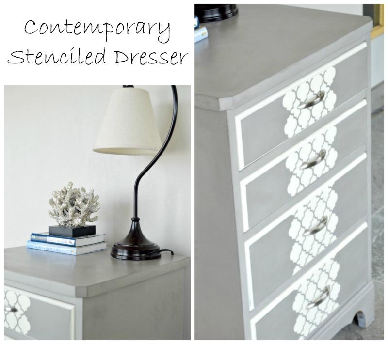 contemporary-stenciled-dresser-H2OBungalow