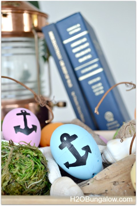 nautical painted easter eggs