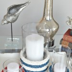 patriotic and nautical, these red white and blue rope candle holders look gret year round H2OBungalow
