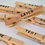DIY Clothes Pin Word Clips