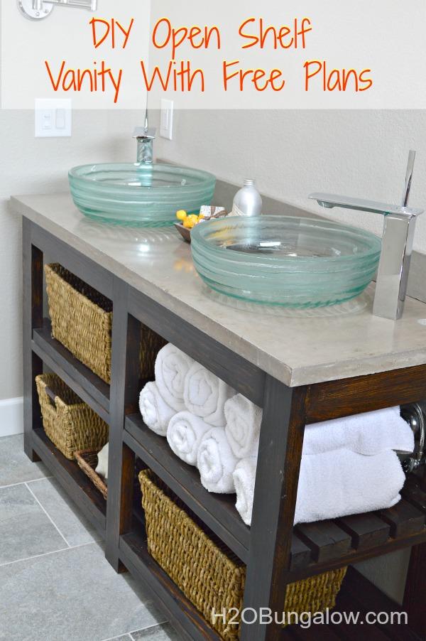 Diy Open Shelf Vanity With Free Plans