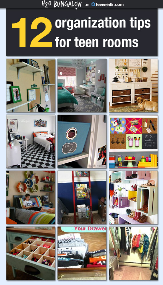 12 smart tips for organizing teen rooms for Organization ideas for teenage girl bedrooms