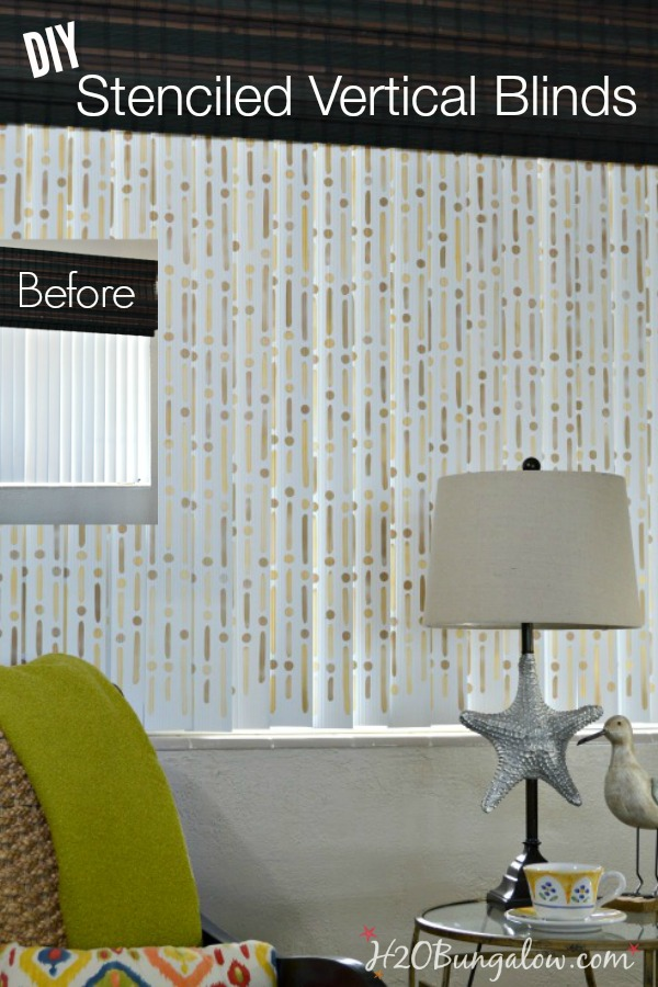 How To Stencil Vertical Blinds