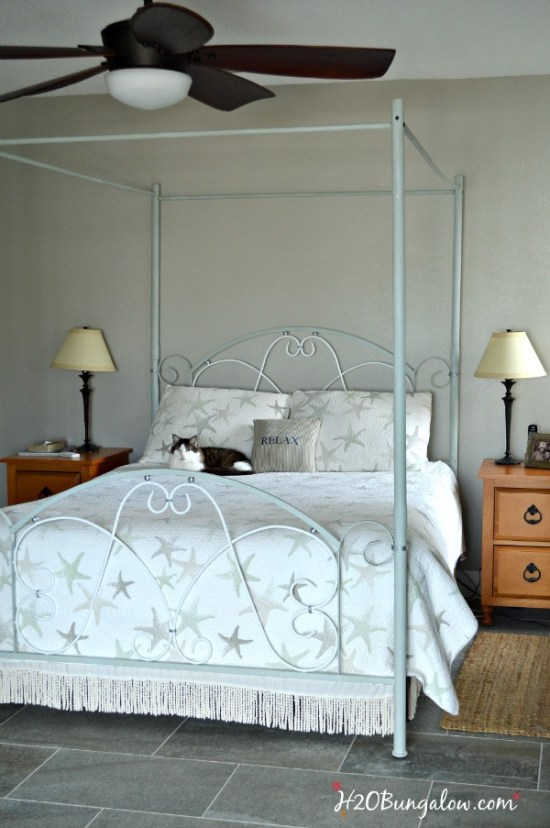 How To Paint An Iron Bed Frame H20bungalow